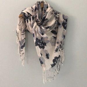 Beautiful long floral lightweight scarf